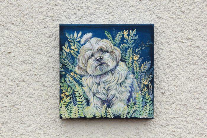 portret kužka, darilo za rojstni dan, darilo ob obletnici, darila za ljubitelje živali, kresničke