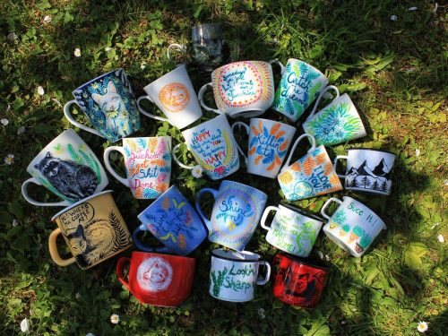 barvne skodelice, happy mugs